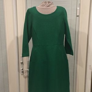 NWT Talbots Sz 10 Green Ribbed Detail Dress